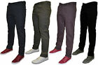 Mens Twisted Faith Chinos Trousers Straight Leg TF11 4 Colours Sizes 28-40 Reg