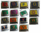 9mm Italian Charm - Choice of LETTERS fits Starter Bracelets MULTI COLOURED Red