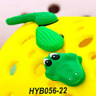 1set 3D Crocodile  PVC Shoe Charms Fit For Silicone bracelet Child Party gift