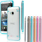 Ultra Thin Transparent Clear Soft Gel Skin Hard Case Cover For HTC ONE 2013 M7