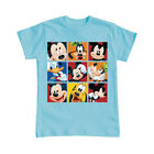 Disney Boys T Shirt Mickey and Friends Boxed In - Blue