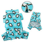 New Klippo 4 Legged Turquoise Flannel Penguin Dog Pajamas PJ's Various Sizes