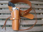 """Gun Belt Combo - 6"""" to 8"""" Smooth Holster - Leather -  Natural - Specify Size"""