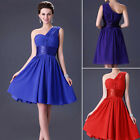 Evening One Shoulder Bridesmaid Prom Bridal Gown Party Cocktail Short Mini Dress