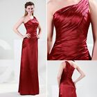 Slim Lady One Shoulder Formal Bridesmaid Ball Gown Evening Prom Party Long Dress