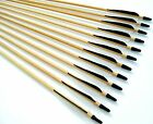 """Shiny Black® 30"""" Premium Wood Arrows, Turkey Feather & S.S. Field Point, Spined"""