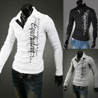 Black/White/Light Grey Men's Slim Fit Long Sleeve T-Shirt 4 Size IN XS S M L