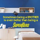 SUPERHERO BROTHER?wall?sticker?family love stickers comics quote decal?art vinyl