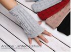 Fashion Women's Knit Wrist Arm Warm Fingerless Hand Short Mitten Gloves