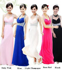 Long Chiffon Halterneck Evening Formal Party Ball Gown Prom Bridesmaid Dress