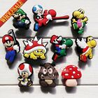 10-100pcs Super Mario Bros PVC Shoe Charms Accessories for bands christmas gifts