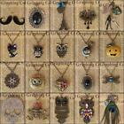 Retro Vintage Owl Punk Skull Chain Pendant Necklace Jewelry Halloween Pumpkin