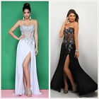 Sexy Beading Long Prom Party Evening Cocktail Pageant Bridemaid Dress Ball Gowns