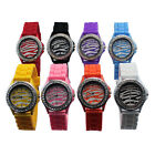 Ladies Womens Fashion Quartz Silicone Band Crystal Jelly Wristwatch Watches