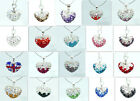 1pc Shamballa Disco Crystal heart Rhinestone Pendant 15*18mm Variety of colors