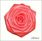 "Large 3"" Handmade ROSE Flower Berisford DBL Satin Bridal Dress Fluorescent Pink"