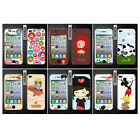 Wo Slim Front Back Clear Cartoon Screen Protector Film Cover For Iphone 4 4S (I)