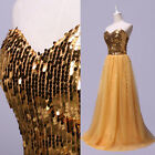 Formal Evening Long Gown Party Prom Ball Bridesmaid Dress SZ6 8 10 12 14 16 18+