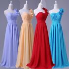 Long Chiffon Evening Dress Prom Bridesmaid Formal Party Gown 6 8 10 12 14 16 18+