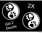 DOG PAW CAT YING YANG DECAL STICKER for Car Truck SUV Van Trailer Laptop Wall