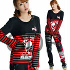 Freeship X LOLITA GOTHIC STRIPED SHIRT CUTE PUNK 71270 RED M-L