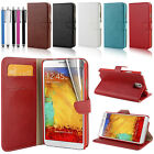 GENUINE LEATHER VINTAGE FLIP WALLET CASE  COVER FOR SAMSUNG GALAXY NOTE 3 N9000