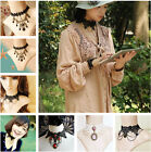 Various Women Choker Collar Black Lace Gothic Goth Lolita Necklace Antiqued