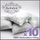 Pack of 10 Oblong Rectangular Cushion Pad Inserts Fillers