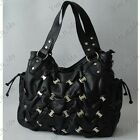 NEW HOBO STUDS SHOULDER DESIGNER FASHION BAG / HANDBAG