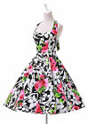 2014 Hot Colorful Floral 50s Halter Rockabilly Pinup Swing Evening Prom Dresses