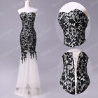 A line Sexy Mermaid Lace Wedding Gown Bridesmaid Evening Formal Dress Prom Party