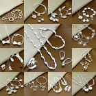 2014 New Gift fashion 925Silver Jewelry set Bracelet Necklace Ring Earrings+box