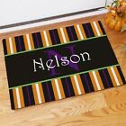 Personalized Family Name Halloween Doormat Family Initial and Name Doormat