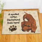 Personalized Dacshund Doormat Spoiled Dacshund Lives Here Welcome Doormat 2 szs