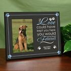 Personalized Dog Memorial Frame Printed If Love Could Save You Remembrance Frame