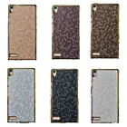 For Huawei P6 Fashion Diamond Pattern Faux Leather Hard Back Skin Case Cover