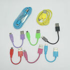 11cm 1M 2M Color Micro USB DataSync Charger Cable For HTC LG Samsung Nokia Sony