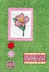 Handmade Cross Stitch Special Flowers for Special Occasions Cards