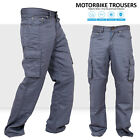 Motorbike Motorcycle Gray Armours Cargo Trousers Jeans With Protective Lining