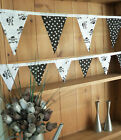 Brand New SKULLS & STARS Double Sided Bunting - large or small