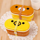 Resistance Free Chopsticks 2 Tier Rilakkuma Relax Bear Lunch Box Bento High Heat