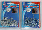 HOOKS AND EYES FOR NET CURTAIN WIRE CHROME SCREWS PICTURE HANGING FRAME