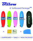 Billow 6' Soft Surfboard Package Deal, Softboard + Bag + Wax + Fins