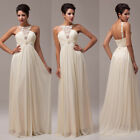 Elegant Off Shoulder Womens Wedding Bridemaid Ball Gown Evening Prom Party Dress
