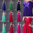 Graceful Long Strapless Bridal Homecoming Evening Formal Party Cocktail Dresses