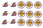 "#100 NBA LAKERS 1"" PRE CUT BOTTLE CAP IMAGES SCRAPBOOKING CRAFT PROJECTS"