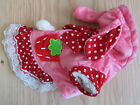 PINK RED spot CUTE costume dress pet coat clothes XS S M L XL for small dog only