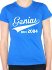 GENIUS SINCE 2004 - Birth Year /Birthday Gift / Novelty Themed Women's T-Shirt