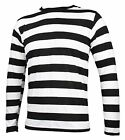 NYC Long Sleeve PUNK GOTH Emo mime Stripe Striped Shirt Black White S M L XL