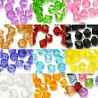 Lot of 230 Plastic Acrylic 8mm Faceted Bicone Diamond Shaped Double Cone Beads